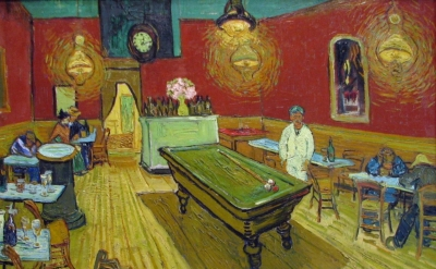 Vincent van Gogh, The Night Café, 1888, oil on canvas, 28.5 × 36.3 inches (Yale