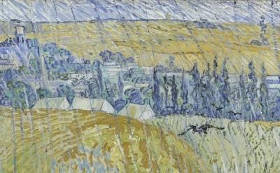 (detail) Vincent van Gogh, Rain-Auvers, 1890 (courtesy of the Clark Art Institut