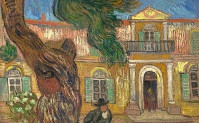 (detail) Vincent Van Gogh, Saint-Paul Asylum, Saint-Rémy, October 1889, oil on c