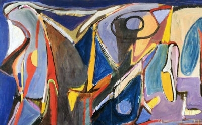 (detail) Bram van Velde, Untitled, Tardais, 1959, oil on canvas, 51 x 76-3/4 inc
