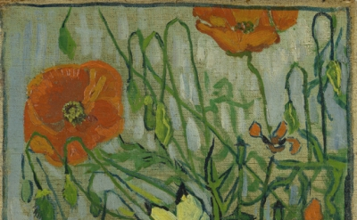 (detail) Vincent van Gogh, Butterflies and Poppies, 1890, oil on canvas, 35 x 25