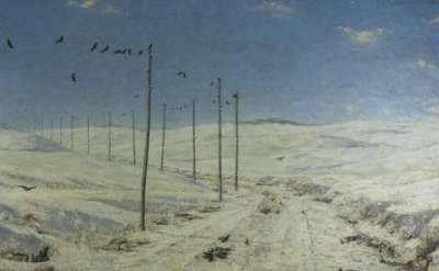 (detail) Vasily Vereshchagin, The Road of the War Prisoners, 1878-1879, Oil on c