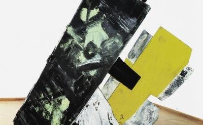 (detail) Emilio Vedova, Plurimo Omaggio a Dada Berlin, 1964-1965 (private collec