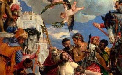 (detail) Paolo Veronese, Martyrdom of Saint George, c.1565, Chiesa di San Giorgi