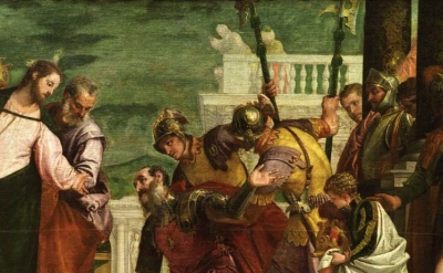 (detail) Veronese, Christ and the Centurion, around 1570 (Museo Nacional del Pra
