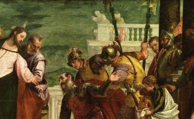 (detail) Veronese, Christ and the Centurion, around 1570 (Museo Nacional del Pra