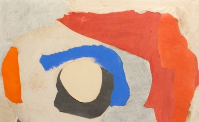 (detail) Esteban Vicente, Hawaii, 1968, collage, paper on board (courtesy of The