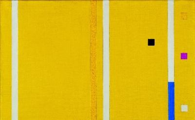 Friedrich Vordemberge-Gildewart, Composition No.194, 1953, oil on canvas, 50 x 6