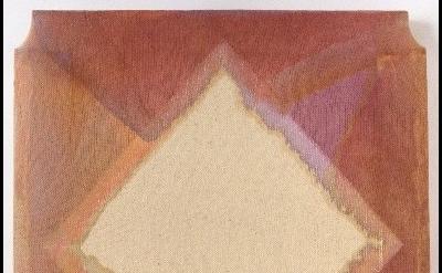(detail) Maria Walker, Color Series 1-2, 2012, acrylic, drop cloth, gesso, wood,