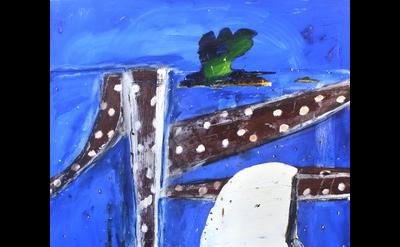 (detail) John Walker, White Reach #2, 2014 oil on canvas 84 x 65 inches (courtes