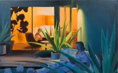 Caroline Walker, The Architecture of Leisure, 2016, oil on linen, 165 x 215 cm (© the artist)
