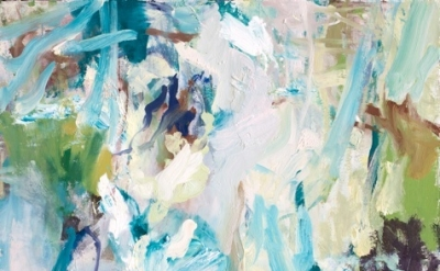 (detail) Ryan Cobourn, Waterfalls 3, 2012, oil on canvas, 26 x 20 inches (courte
