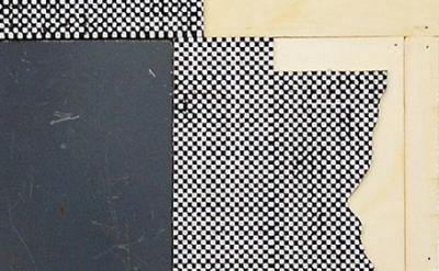 (detail) Ken Weathersby, 221 (derrière le miroir), 2014 acrylic & graphite on li