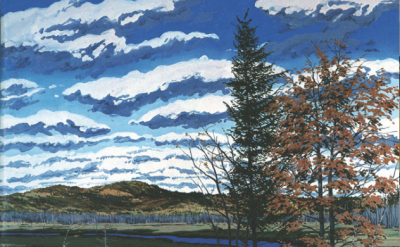 (detail) Neil Welliver, Shadow on Briggs Meadow, 1981 (courtesy the center for F