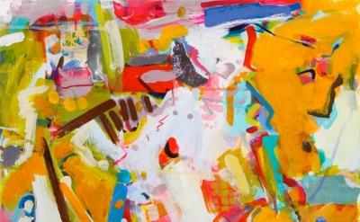 Gina Werfel, Map, 2015, 16 x 20 acrylic (courtesy of the artist)