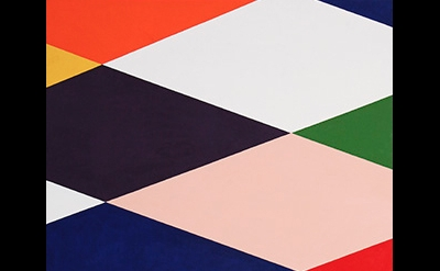 (detail) Stephen Westfall, Reclining Harlequin, 2015, oil and alkyd on canvas, 4