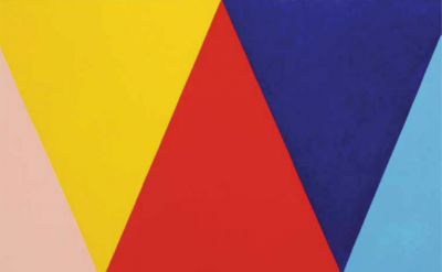 Stephen Westfall, Three Kings, 2015, 66 x 78 inches, oil and alkyd on canvas (courtesy of Lennon, Weinberg, Inc.)