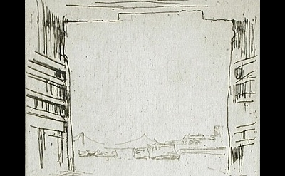 (detail) James Abbott McNeill Whistler, Under Old Battersea Bridge, 1876/78, The