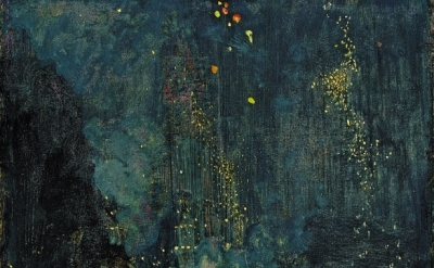 (detail) James Abbott McNeill Whistler, Nocturne in Black and Gold - The Falling