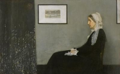 (detail) James Abbott McNeill Whistler, Arrangement in Grey and Black No. 1 (Por