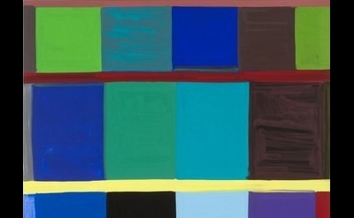 (detail) Stanley Whitney, This Side of Blue, 2011, oil on linen 96 x 96 inches (
