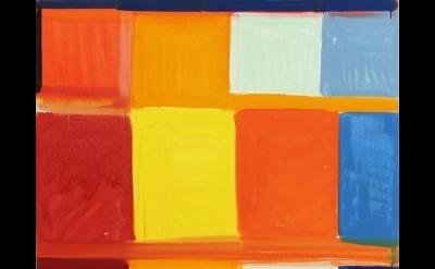 (detail) Stanley Whitney, Dance the Orange, 2013, oil on linen, 48 × 48 inches (