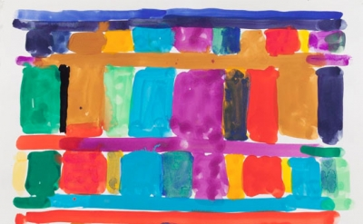 Stanley Whitney, Untitled, 2014, gouache on paper (courtesy the artist and team