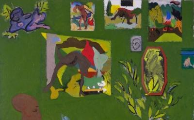 Tyler Wilkinson, The Green Room, oil on linen (courtesy of the artist)