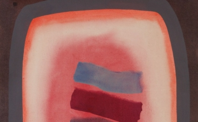 (detail) William Perehudoff, AC-87-048, 1987 acrylic on canvas, 143 x 103 cm (co