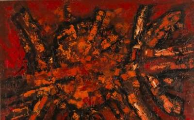 Frank Avray Wilson, Thrusting Reds, 1959, oil on canvas, 122 x 152 cm (courtesy of Whitford Fine Art, London)