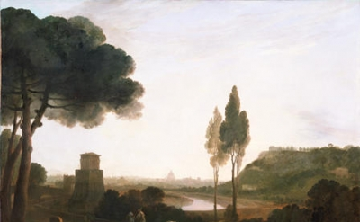 Richard Wilson (1714-82), Rome from the Ponte Molle, 1754, oil on canvas, 110.5