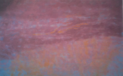 Jane Wilson, Tempest, 1993, oil on linen, 70 x 70 inches (courtesy of DC Moore G