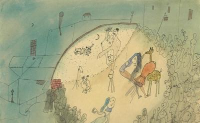 (detail) Wols, Le cirque; Prise de vue et projection simultanée, c. 1940 (courte