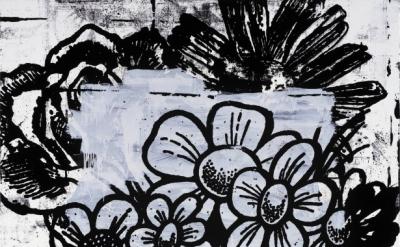 (detail) Christopher Wool, Untitled, 1994, enamel on aluminum, 91.4 x 61 cm (Pri