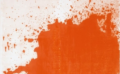 (detail) Chrisotpher Wool, Minor Mishap, 2001, silkscreen ink on linen, 274.3 x