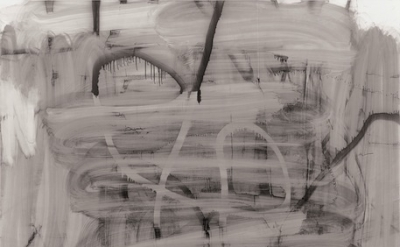 (detail) Christoper Wool, Untitled, 2007, enamel on linen, 320 x 243.8 cm (Tate