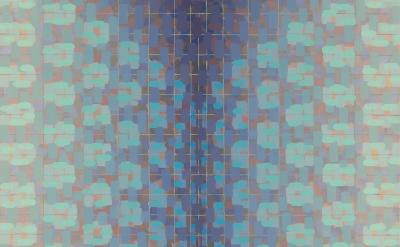 (detail) Rachael Wren, Blue Yonder, 2013, oil on linen, 20 x 20 inches (courtesy