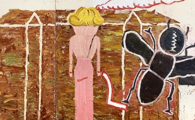 Detail of a painting by Rose Wylie (courtesy of the artist and Chapter, Cardiff)
