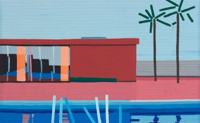 Guy Yanai, Last Splash, 2015, Oil on linen, 25 x 27 1/2 inches (courtesy of Amer