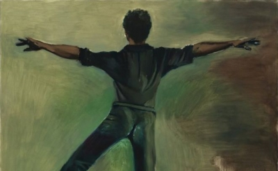 (detail) Lynette Yiadom-Boakye, Interstellar, 2012, oil on canvas, 78 3/4 x 71 i