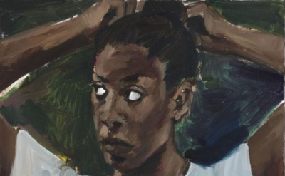 (detail) Lynette Yiadom-Boakye, Of All The Seasons, 2017 (courtesy of the artist, Corvi-Mora, London, and Jack Shainman Gallery, New York)