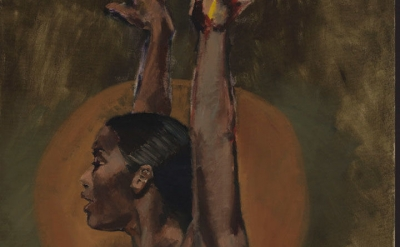 (detail) Lynette Yiadom-Boakye, Light Of The Lit Wick, 2017 (courtesy of Lynette Yiadom-Boakye/Cori-Mora, London/Jack Shainman Gallery)