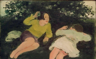 Albert York, Two Reclining Women in a Landscape, 1967 (courtesy Davis & Langdale