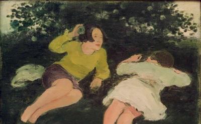 Albert York, Two Reclining Women in a Landscape, 1967 (courtesy Davis & Langdale