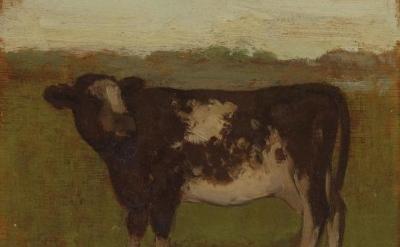 (detail) Albert York, Cow c. 1972 (courtesy of Matthew Marks Gallery)