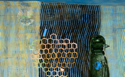 (detail) Charles Yuen, Hive, 66 x 54 inches,oil on canvas, 2014 (courtesy of the artist)