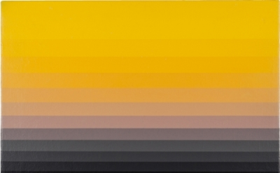 Norman Zammitt, Yellow 5N, 1983, acrylic on canvas board, 10 in x 14 inches (cou