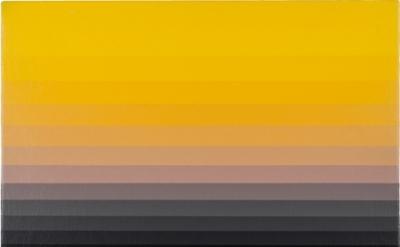 Norman Zammitt, Yellow 5N, 1983, acrylic on canvas board, 10 in x 14 inches (cou