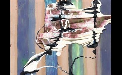 (detail) Molly Zuckerman-Hartung, oa, 2013, oil, latex, enamel and spray paint o