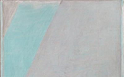 (detail) John Zurier, Finnbogi, 2014, distemper on linen, 72 x 44 inches (courte